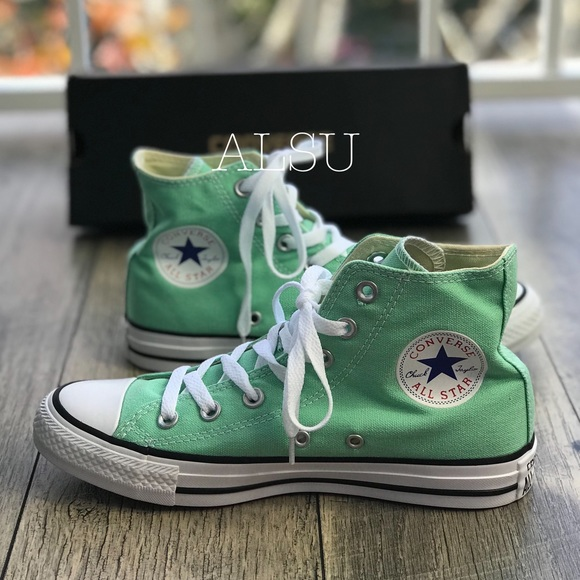 99f1b28f853f Converse Ctas HI Beach 🏖 Glass Green W AUTHENTIC